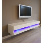 tv-meubel Bobbie LED hoogglans wit